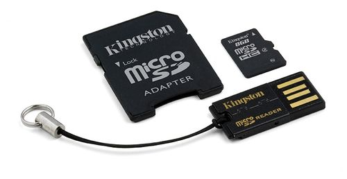 KINGSTON 8GB microSDHC Mobility Kit incl USB + SD Adapter (MBLY4G2/8GB)