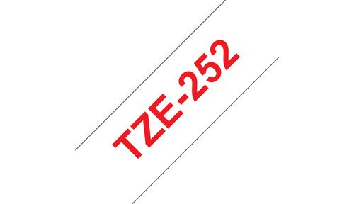 BROTHER 24MM Red On White Tape (TZE252)