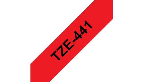 BROTHER 18MM Black On Red Tape (TZE441)