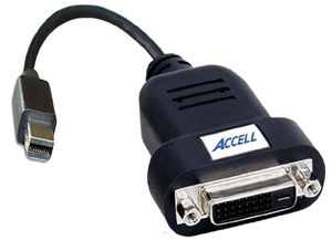 ACCELL Mini Displayport till DVI-D Single-Link adapter, svart (B087B-006B)