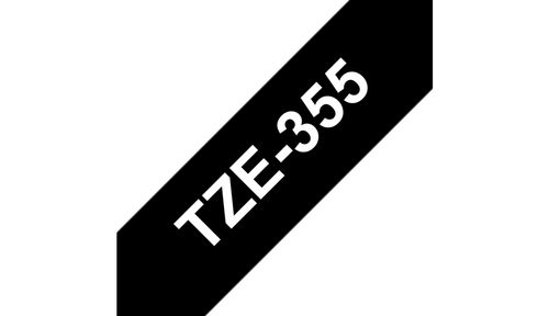 BROTHER 24MM White On Black Tape (TZE-355)