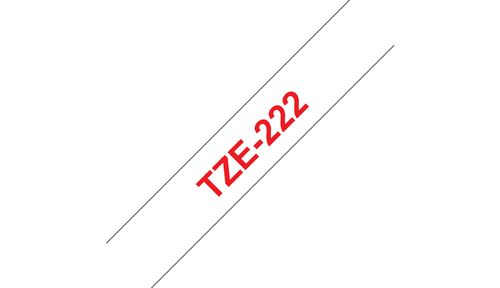 BROTHER P-TOUCH TAPE RED/WHITE 9MM (TZ-222)