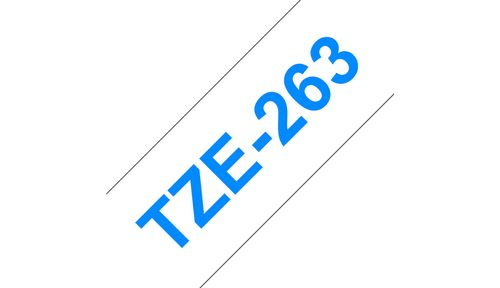 BROTHER 36MM Blue On White Tape (TZE263)