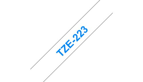 BROTHER 9MM Blue On White Tape (TZE223)