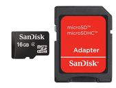 SANDISK SD CARD MICRO 16GB SDHC