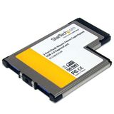 STARTECH 2 Port Flush Mount ExpressCard 54mm USB 3.0 Card Adapter with UASP Support