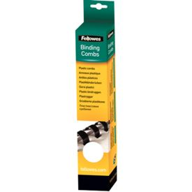 FELLOWES Binding combs Fellowes round 12mm white plastic(25) (5331203)