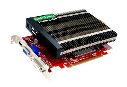 "POWERCOLOR Radeon HD 6570 1GB DDR3 PCI-Express 2.1, ""Go! Green"", DVI, native-HDMI,  Passive edition, Dirt 3 (AX6570 1GBK3-NHG)"