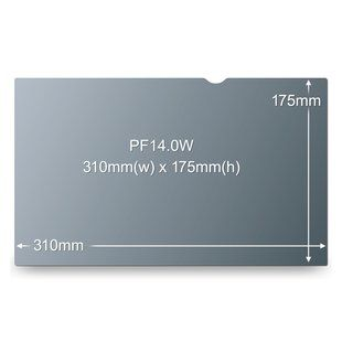 3M Privacy filter for LCD 14,0W9 widescreen (PF14.0W9)