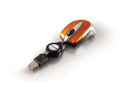 VERBATIM Optical Mini Travel Mouse USB Volcanic Orange (49023)
