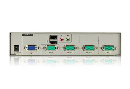 ATEN KVM-switch,  1 konsol styr 4 datorer, VGA/USB (CS74U-AT)