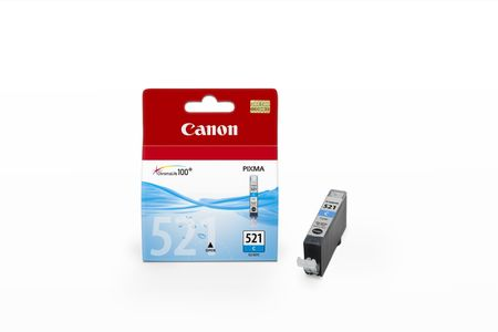 CANON CLI-521C ink cartridge cyan standard capacity 1-pack blister with alarm (2934B009)