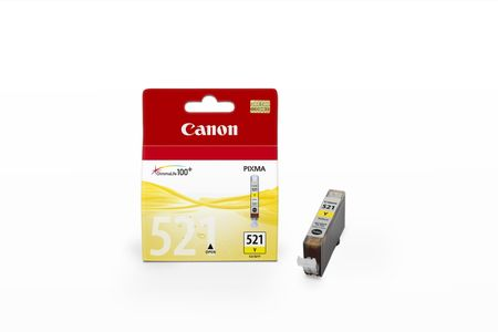 CANON CLI-521Y ink cartridge yellow standard capacity 1-pack blister with alarm (2936B008)