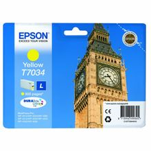EPSON cartridge L yellow for WP 4000/4500 800 pages WP-4015DN WP-4025DW WP-4515DN WP-4525DNF WP-4535DWF WP-4545DTWF (C13T70344010)