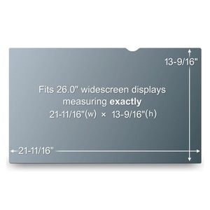 3M PF26.0W PRIVACY FILTER BLACK FOR 26,0IN / 66,0 CM / 16:10     IN ACCS (98044054199)