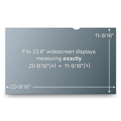 3M PF23.6W9 PRIVACY FILTER BLACK FOR 23.6IN / 59.9 CM / 16:9 ACCS (7100036695)