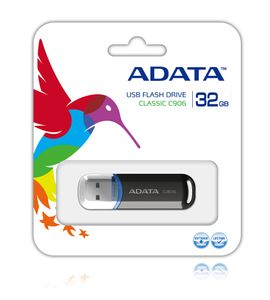 A-DATA 32GB USB Stick Classic C906 Black (AC906-32G-RBK)
