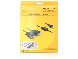DELOCK Kabel Adapter USB-St.>2x Seriell-St. 1,4m [ (61886)