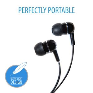 VIDEO SEVEN V7 IN-EAR EARBUDS BLACK STEREO HEADPHONES                IN ACCS (HA100-2EP)