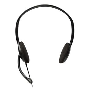 VIDEO SEVEN V7 STANDARD HEADSET BLK/SIL STEREO HEADPHONES MICROPHONE     IN ACCS (HA201-2EP)