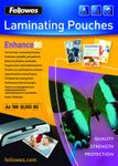 FELLOWES PUNCHED POUCH 228X303 80MIC 100PK