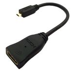ACCELL HDMI High Speed with Ethernet sovitin, micro HDMI ur - HDMI na (J126C-001B)