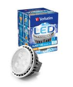 VERBATIM LED MR16 12v GU5.3 7W 450lm 2700K Warm White 25.000 Hours Dimmable Retail