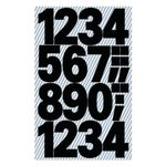 AVERY Numbers, Black,  Outdoor Use 25mm/ 100pt,  2 sheets/ pack (3785)