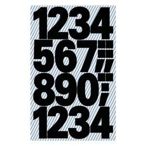 AVERY 3785 Number labels weatherproof black 25mm (48) (3785*10)