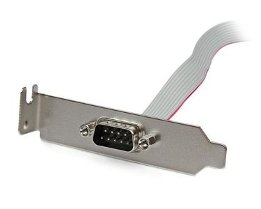 STARTECH 1 Port 40cm DB9 Serial Port Bracket to 10 Pin Header - Low Profile	 (PLATE9M16LP)