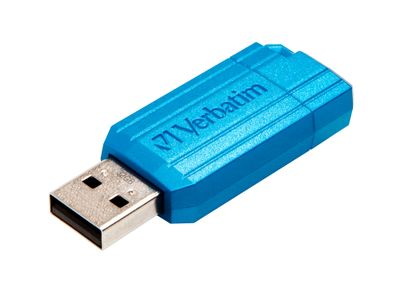 VERBATIM USB DRIVE 2.0 PIN STRIPE 32GB CARIBBEAN BLUE 2.0 32GB EXT (49057)