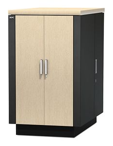 APC NetShelter CX 24U Secure Soundproofed Server Room in a Box Enclosure International (AR4024IA)