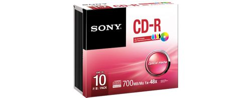 SONY CD-R, 48X, 700MB . SUPL (10CDQ80PS)
