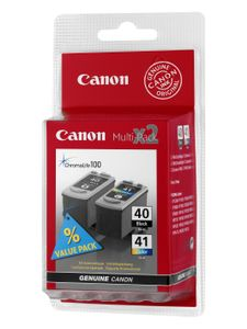 CANON PG-40 / CL-41 ink cartridge black and colour standard capacity combopack blister without alarm (0615B043)