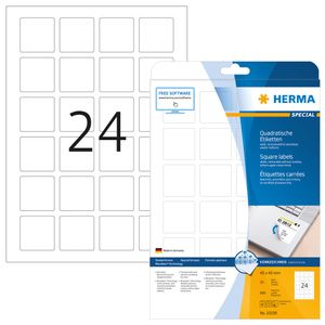 HERMA LABELS MOVABLE HERMA A4 40X40MM WHITE (10108)