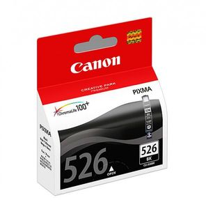 CANON CLI-526BK ink cartridge black standard capacity 9ml 555 photos 1-pack blister without alarm (4540B007)