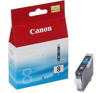 CANON CLI-8C ink cartridge cyan standard capacity 1-pack blister with alarm (0621B028)