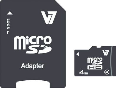 VIDEO SEVEN MICROSD CARD 4GB SDHC CL4 INCL SD ADAPTER RETAIL           IN MEM (VAMSDH4GCL4R-2E)