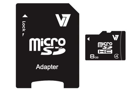 VIDEO SEVEN MICROSD CARD 8GB SDHC CL4 INCL SD ADAPTER RETAIL           IN MEM (VAMSDH8GCL4R-2E)