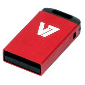 VIDEO SEVEN USB NANO STICK 8GB RED USB2.0 23X12X4MM RETAIL          IN MEM (VU28GCR-RED-2E)