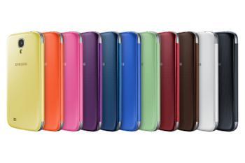 SAMSUNG Galaxy S4 Flip Cover Yellow - qty 1 (EF-FI950BYEGWW)