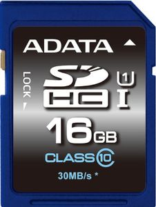 A-DATA 16GB SDHC UHS-I Class10 (ASDH16GUICL10-R)