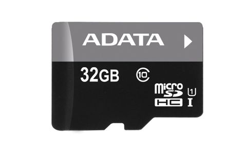 A-DATA ADATA 32GB MicroSDHC UHS-I Class10 +SD adapter (AUSDH32GUICL10-RA1)