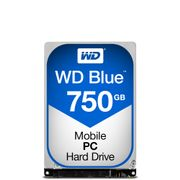 WESTERN DIGITAL WD Blue Mobile 750GB HDD 5400rpm SATA serial ATA 6Gb/s 8MB cache 2,5inch 9,5mm Heigth RoHS compliant intern Bulk