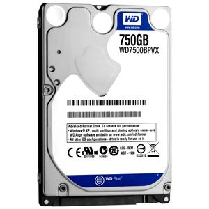 WESTERN DIGITAL 750GB BLUE WD7500BPVX SATA 5400 RPM 8MB 2.5IN 9.5MM 6GB/S (WD7500BPVX)