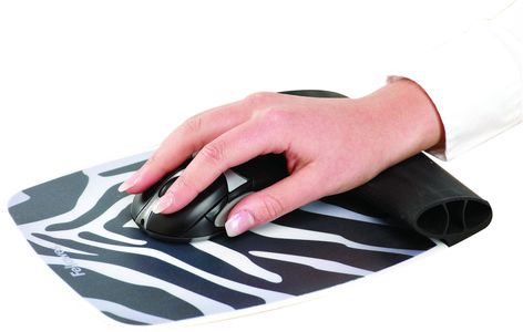 FELLOWES mouse and wrist silicone pad, Zebra (9362301)