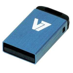 VIDEO SEVEN V7 USB NANO STICK 16GB BLUE USB2.0 23X12X4MM RETAIL          IN MEM (VU216GCR-BLU-2E)