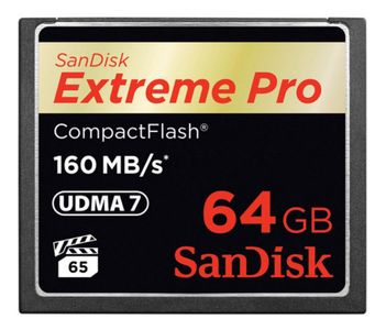 SANDISK EXTREME PRO CF 160MB/S 64 GB (SDCFXPS-064G-X46)