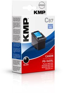 KMP C87 ink cartridge black compatible with Canon PG-540 XL (1516,4001)