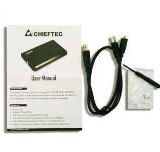 "CHIEFTEC CEB-2511-U3 HDD Kabinett 2, 5"",  SATA, SSD, 9.5mm / 12.5mm HDD, Plug & Play, USB 3.0, Aluminium,  LED, Sort (CEB-2511-U3)"
